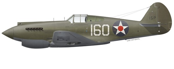US, P-40B, 41-XXXXX, 2Lt George Welch, 47 PS, 15 PG, 1941